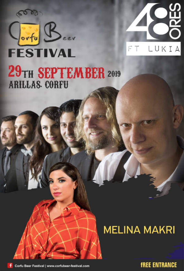 48 Ores feat Lukia and Melina Makri at Corfu Beer Festival 2019